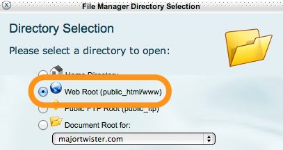 """Image showing """"web root"""""""